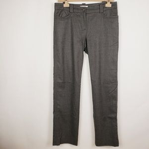 Celine grey wool Cashmere trousers ankle slit
